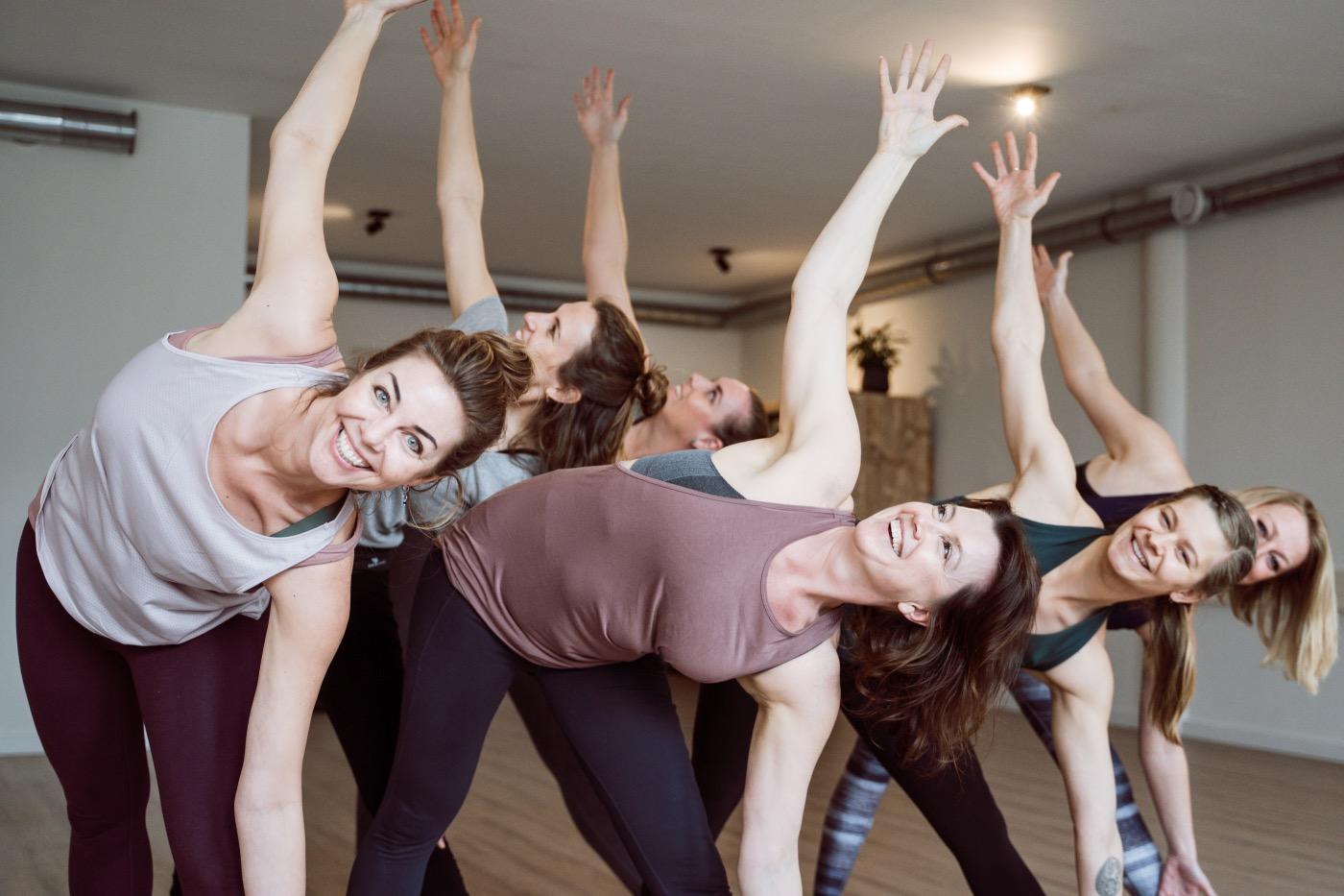 groepsfoto yoga