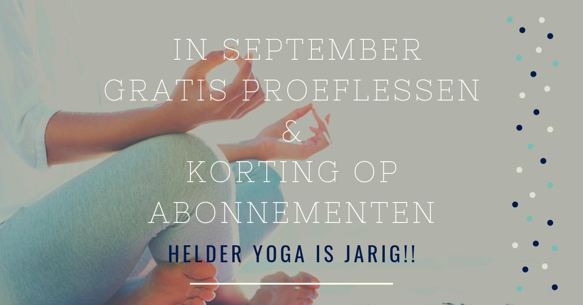 helder yoga 1 jaar
